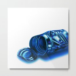 Empty can abandoned Metal Print