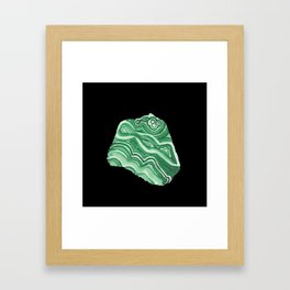 Malachite Specimen I (Black) Framed Art Print