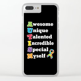 Autism Acronym Clear iPhone Case