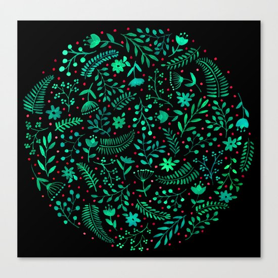Night autumn pattern 2 Canvas Print