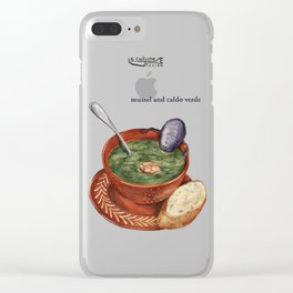 La Cuisine Fusion - Mussels with Caldo Verde Clear iPhone Case