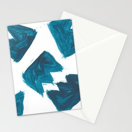 Basquiat Crown, Abstract, Blue Duck Stationery Cards