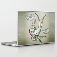 jack sparrow Laptop & iPad Skins featuring Sparrow by Vin Zzep