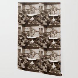 Witch Herbarium Sepia Wallpaper