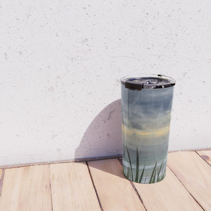 Moody Skies Over Piha Travel Mug