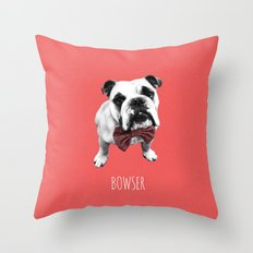 Red Bowser Throw Pillow