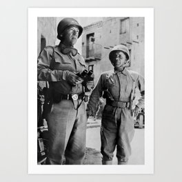 General Patton and Teddy Roosevelt Jr. - Invasion of Sicily - WW2 Art Print