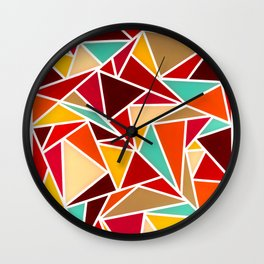 Autumn Triangles Wall Clock