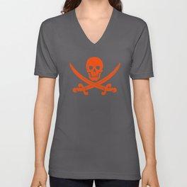 Skull and Crossbones Shirt Unisex V-Neck
