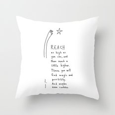 reach as high as you can Throw Pillow