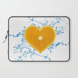 Slice of Heart Shaped Orange Laptop Sleeve