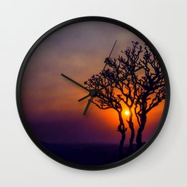 A Sunset Silhouette in Hampi, India Wall Clock