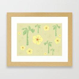 Midcentury Tiki Print Hawaii Retro Vintage Framed Art Print