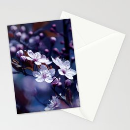 Magic Violet Apple Tree Blossoms Photography Stationery Cards