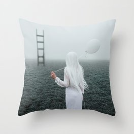 All white Throw Pillow