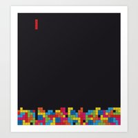 tetris Art Prints featuring Tetris by Psocy Shop