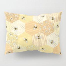Patchwork Bees Pattern Pillow Sham