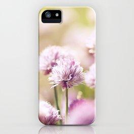 Allium Schoenoprasum iPhone Case