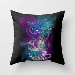 Chesire's tea Throw Pillow
