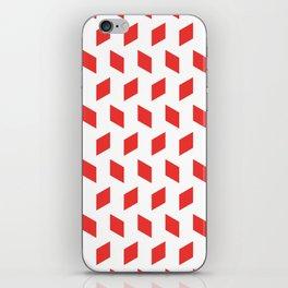 rhombus bomb in poppy red iPhone Skin