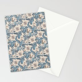 Water Swingers in Cream ( leafy sea dragon in blue and cream ) Stationery Cards