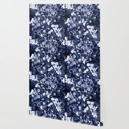 Bohemian Floral Nights in Navy Wallpaper