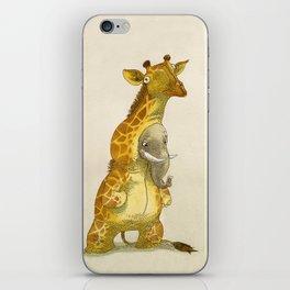 Elephant in a giraffe costume iPhone Skin