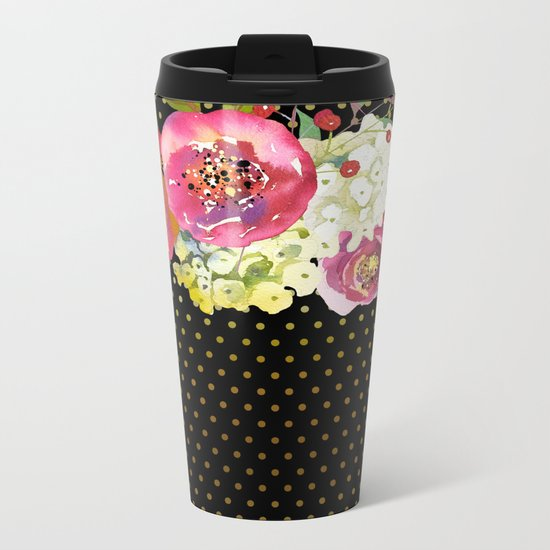 Flowers bouquet #34 Metal Travel Mug