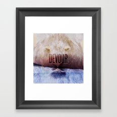 Devour Nature Like A Lion Framed Art Print
