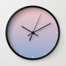 Ombre   Rose Quartz and Serenity   Pantone Colors of the Year 2016 Wall Clock