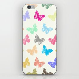 Colorful butterflies iPhone Skin