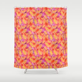 Australian Native Floral Print - Grevillea Flowers Shower Curtain