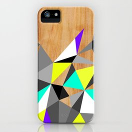 Wooden Geo Neon iPhone Case