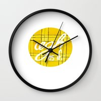 clueless Wall Clocks featuring Ugh, As If by NoelleGobbi