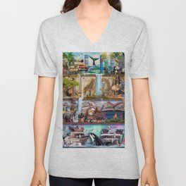 The Amazing Animal Kingdom Unisex V-Neck
