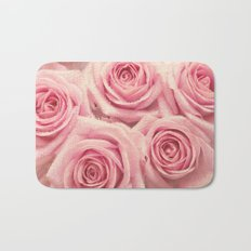 For the love of pink roses Bath Mat