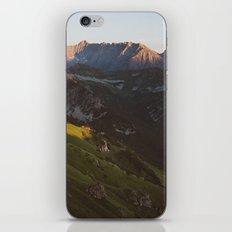 Sunset valley iPhone Skin