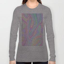 Liquid Colorful Abstract Rainbow Paint Long Sleeve T-shirt