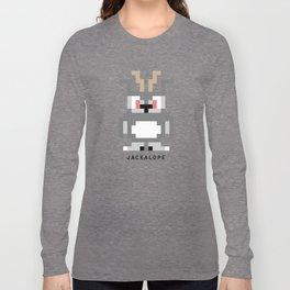 8 Bit Jackalope Long Sleeve T-shirt