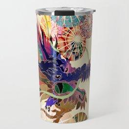 Dragon with unbrellas Travel Mug