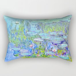 Water Lilies monet : Nympheas Rectangular Pillow