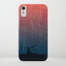 Meteor rain iPhone Case