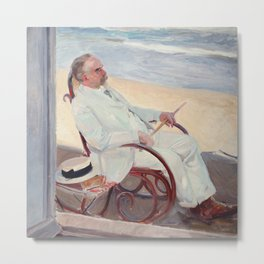 Antonio García at the Beach - Joaquín Sorolla Metal Print