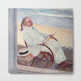 Antonio García at the Beach - Joaquín Sorolla Metal Print