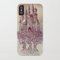 castle iPhone & iPod Cases featuring Castle in the Trees by Rachel Caldwell