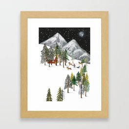 Winter Adventure Framed Art Print