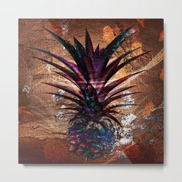 Copper Leaf Pineapple Art #buyart Metal Print