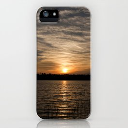 Watercolor Sunset, Janes Island 14, Maryland iPhone Case