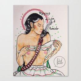 Mexican Woman - Femme Mexicaine Canvas Print