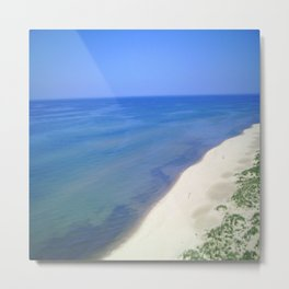 Beach Side View Metal Print